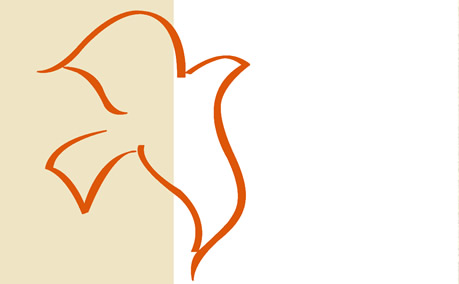 Holy Spirit Dove in orange